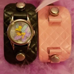 90's Tinkerbell watch with 2 bands